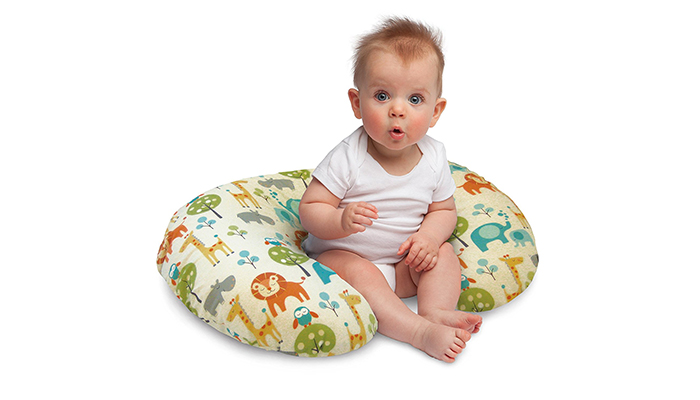 Boppy-Nursing-Pillow-and-Positioner,-Peaceful-Jungle