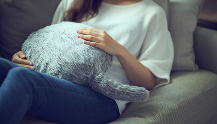 Meet Qoobo, the Cuddly, Therapeutic Tail-Wagging Robot Cat Pillow
