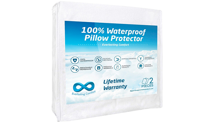 Everlasting-Comfort-100%-Waterproof-Pillow-Protector