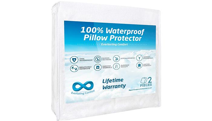 Everlasting-Comfort-100%-Waterproof-Pillow-Protector