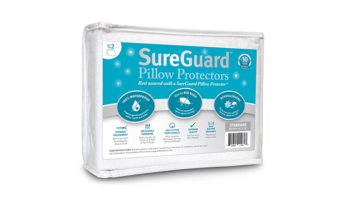 Set-of-2-Standard-Size-SureGuard-Pillow-Protectors